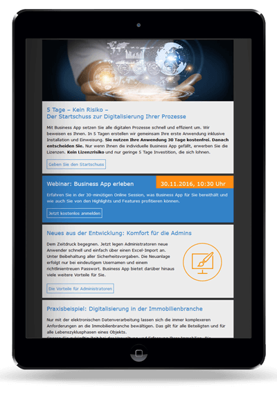 Business App Newsletter