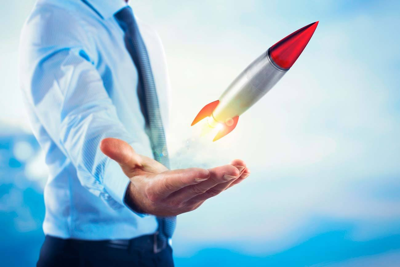 Rocket launch for your productivity!