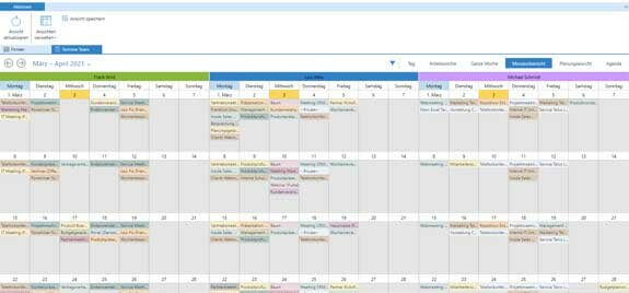 Business App Schedule Group Calendar: Monthly Overview